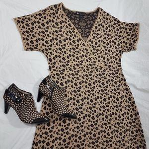 Lane Bryant Leopard Animal Print Sweater Dress S16